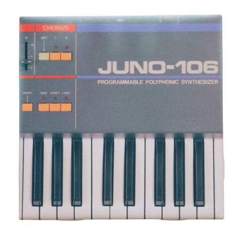 Juno-106 Synthesizer Drink Coaster, Decorative Tile