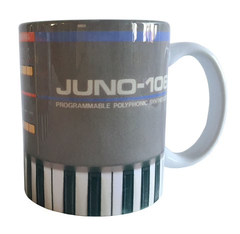 Juno-106 Mug, Vintage Synthesizer Coffee Cup. Well Done Goods by Cyberoptix