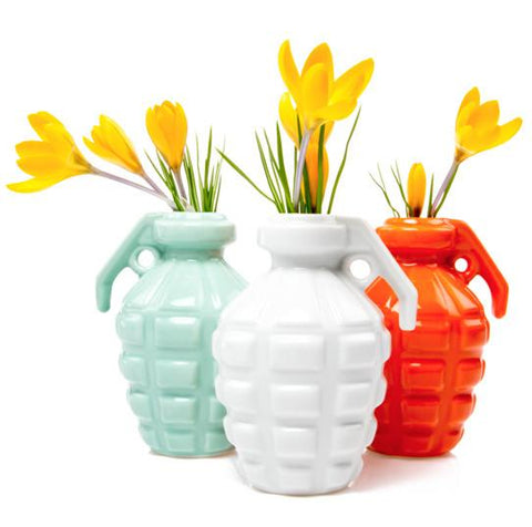 Kapow Grenade Vase by Chive, Well Done Goods