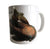 Koi Fish Print Mug, Brown Koi Natural History Coffee Cup, Well Done Goods