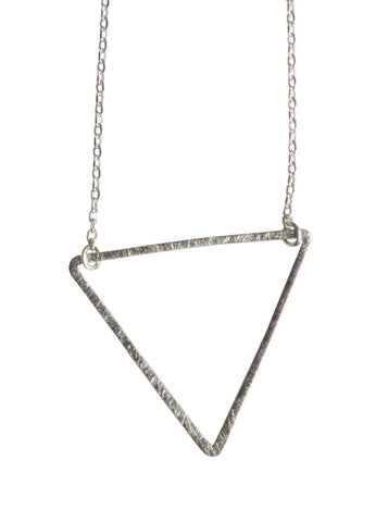 Large Silver Triangle Necklace, Jewelry for Women, Well Done Goods