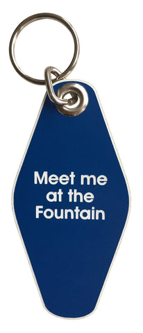 Meet Me At The Fountain Motel Style Keychain, Well Done Goods