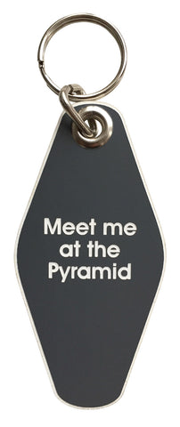Meet Me At The Pyramid Motel Style Keychain, Well Done Goods