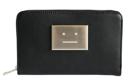 Meh Silver Rectangle Face Black Clutch Bag, Well Done Goods