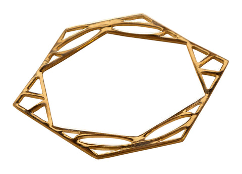 Metal Gold Hexagram Bracelet, Well Done Goods