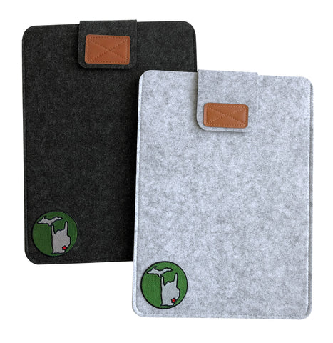 Metal Mitten Vegan Felt Laptop & Tablet Sleeve, Tabbed Closure, Well Done Goods