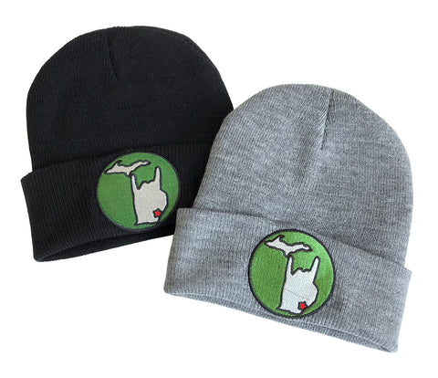 Metal Mitten Patch Beanie Caps, Well Done Goods