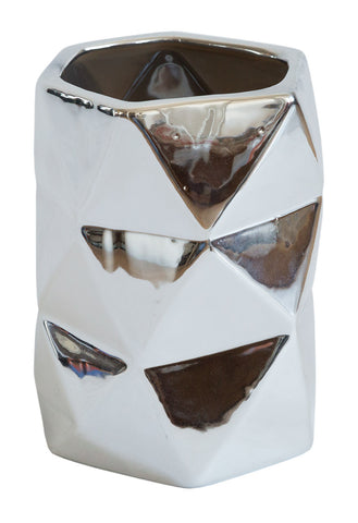 Metallic Prism Vase, Well Done Goods