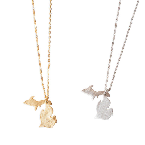 Michigan Peninsulas Pendant Necklaces, Well Done Goods