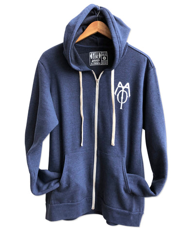 Capitol Theatre Detroit 1921 Blueprint & Logo Zip Hoodie, Front. Michigan Opera Theatre