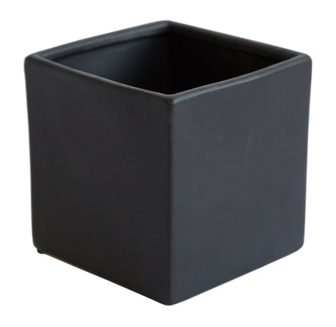 Matte Black Mini Cube Planter, Well Done Goods