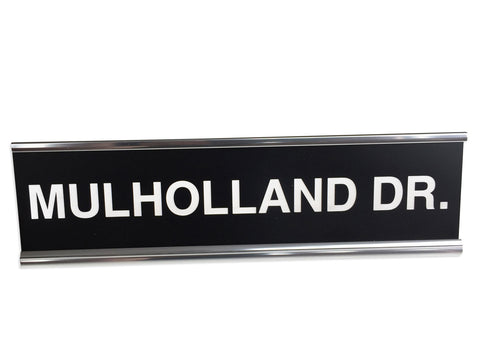 Mulholland Drive Engraved Desk Nameplate, Well Done Goods