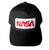 NASA Worm Logo Snapback Cap, black. Well Done Goods