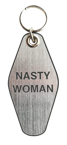 Nasty Woman Motel Style Keychain Tag, by Well Done Goods