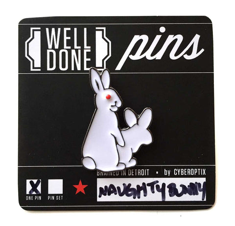 Naughty Bunnies Enamel Pin