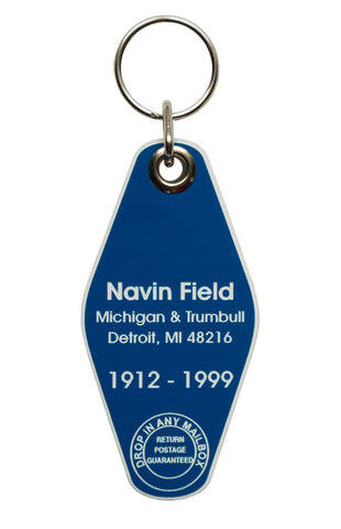 Navin Field, Motel Style Keychain. 1912-1999, Well Done Goods