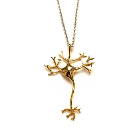 Neuron Nerve Cell Gold Necklace, Well Done Goods