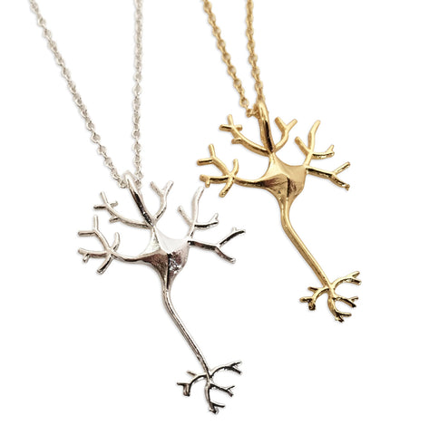 Axon & Dendrite, Neuron Nerve Cell Necklaces, Well Done Goods