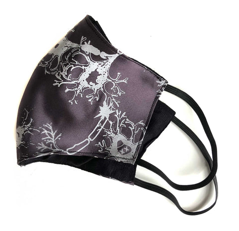 Neuron Face Mask, Fried Brain Cells fabric face cover
