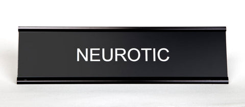 Neurotic Office Desk Nameplate