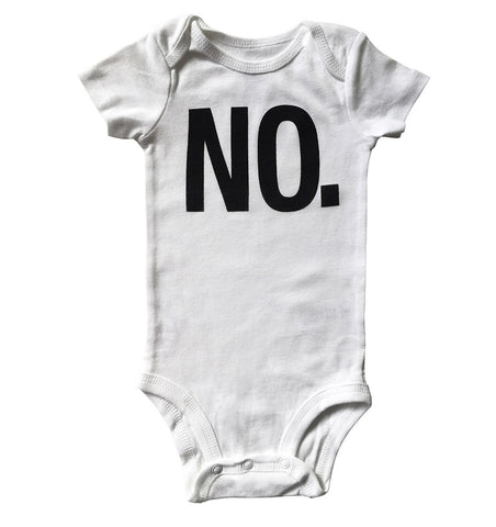 NO. Baby Onesie, Text Print Creeper, Well Done Goods