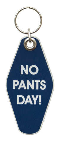No Pants Day Motel Style Keychain, Well Done Goods