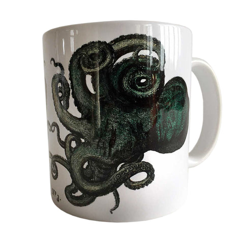 Albertus Seba Octopus Print Mug, Natural History Coffee Cup. Well Done Goods