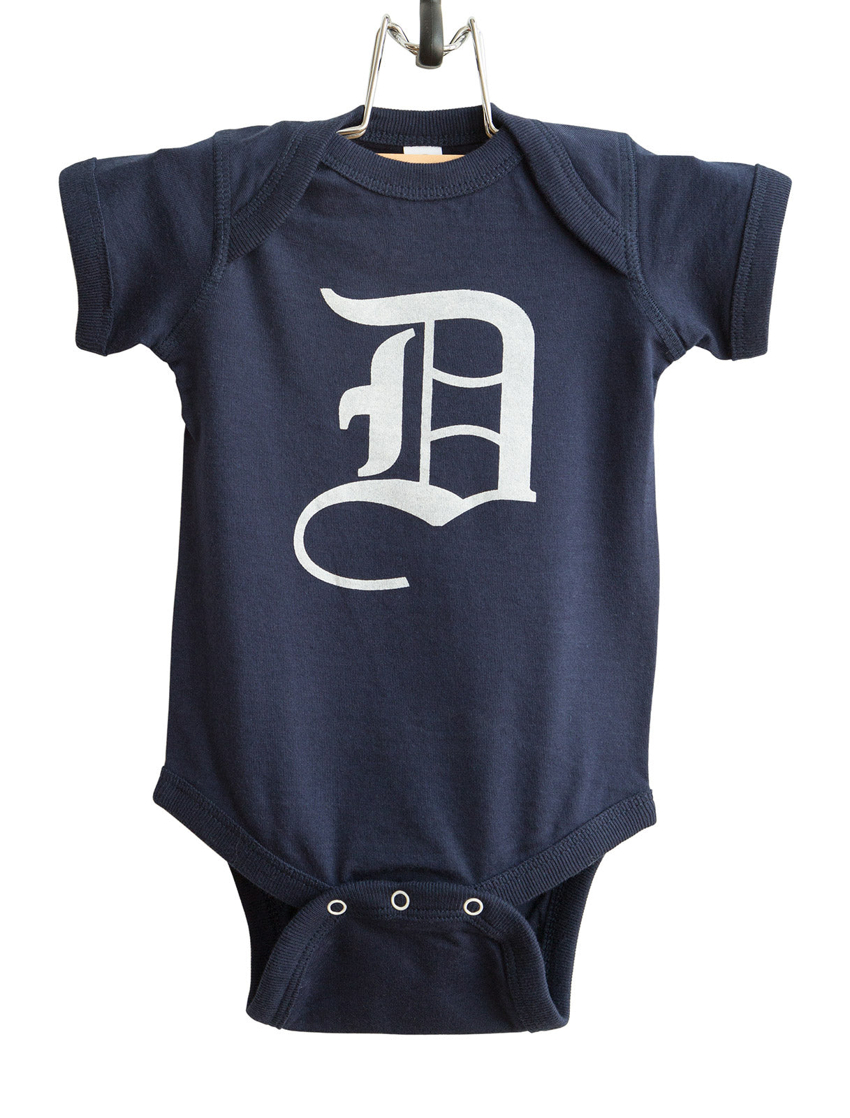 old english d detroit baby snapsuit well done goods