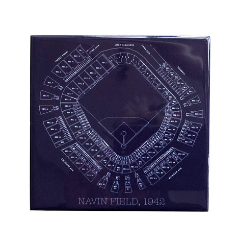 Old tiger stadium navin field blueprint drink coaster old tiger stadium navin field blueprint drink coaster well done goods malvernweather Images