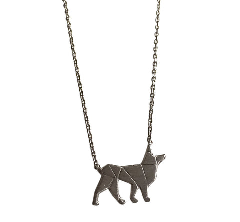 Origami Wolf Necklace, by Well Done Goods