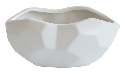 White Oval Prism Vase, Well Done Goods