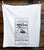 Opium Apothecary Label Egyptian Cotton Flour Sack Towel, Screen-printed Poppy Print, Well Done Goods by Cyberoptix