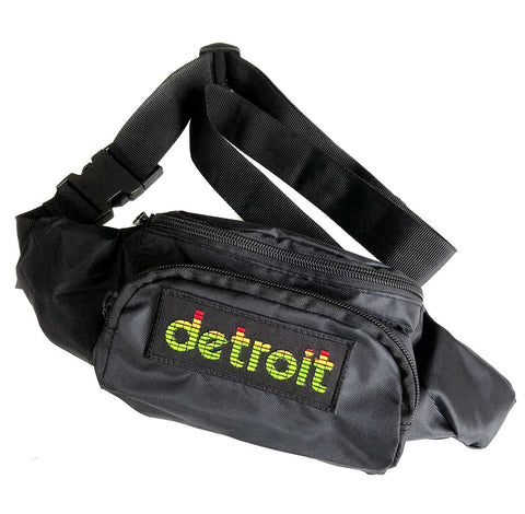 Peak Detroit, Black Crossbody Fanny Pack