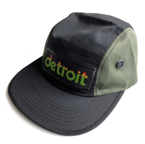 Peak Detroit Military Cap, 5-Panel LED Audio Level Meter Camp Hat