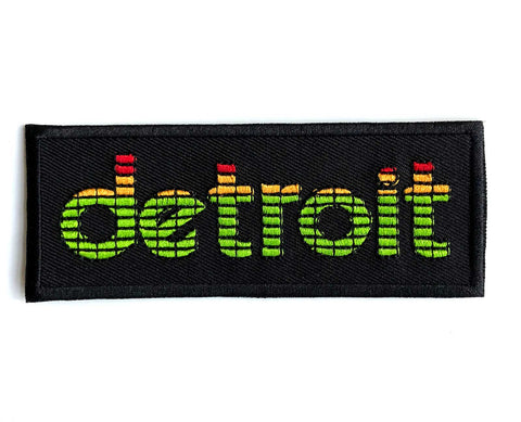 Peak Detroit, LED Audio Level Meter Iron-on Embroidered Patch