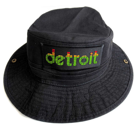 Peak Detroit Black Bucket Hat, LED Audio Level Meter