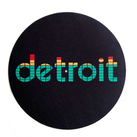 Peak Detroit Turntable Slipmats, 1 Pair. LED Audio Level Meter. Well Done Goods