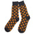 Pepperoni Pizza Slice Socks, black. Men's Fancy Socks by Parquet