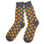 Pepperoni Pizza Slice Socks, grey. Men's Fancy Socks by Parquet