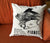 Piano Print Cotton Throw Pillow, Vintage Detroit Advertising Silkscreen print. Well Done Goods by Cyberoptix
