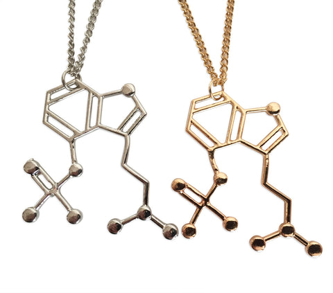 Mushrooms Molecule Pendant Necklace