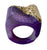 Gold Coated Purple Agate Druzy Raw Stone Ring, well done goods