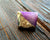 Gold Coated Agate Raw Stone Ring, purple - SOLD OUT