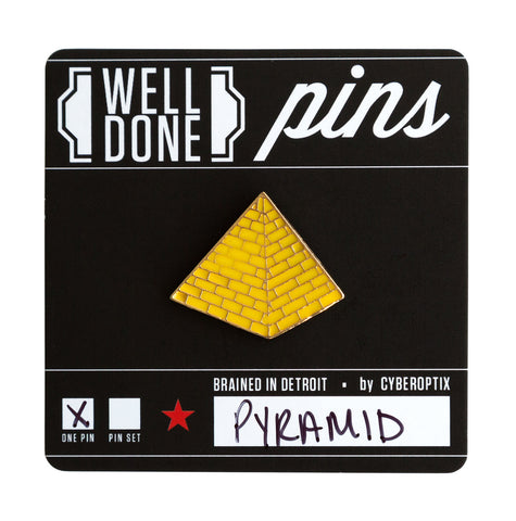 Egyptian Pyramid Enamel Pin, Well Done Goods
