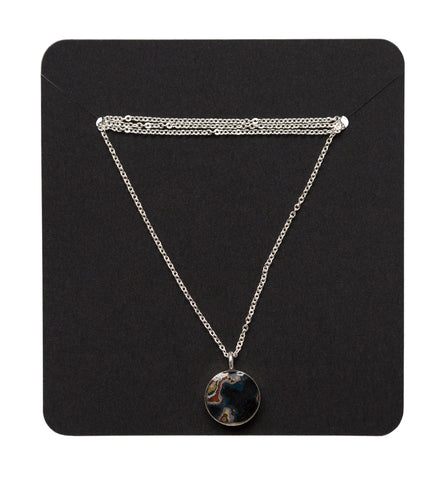 Rebel Nell 10mm Sterling Silver Pendant, 18 inch Chain, Well Done Goods