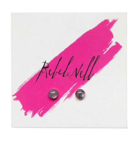 Rebel Nell Small Round Gold Post Earrings, Well Done Goods