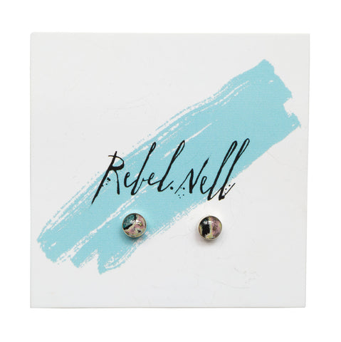 Rebel Nell Small Round Sterling Post Earrings, Well Done Goods