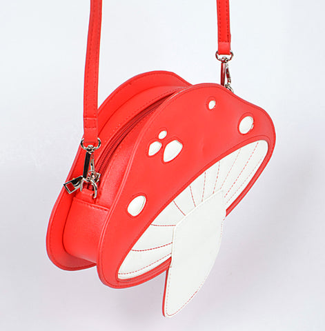 Cute Red Mushroom 3D Crossbody Bag