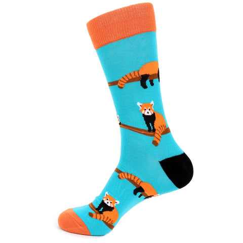 Red Panda Socks. Men's Fancy Socks, by Parquet