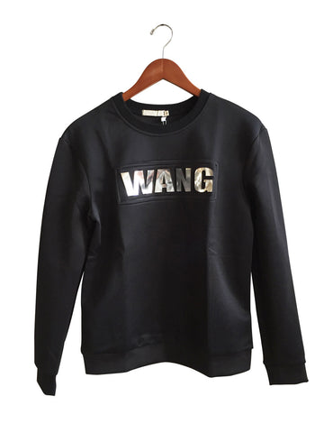 K-Pop Wang Reflective Text on Black Neoprene Shirt, by Well Done Goods